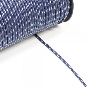 Κορδόνι ναυτικό συνθετικό Mπλε - Aσημί 3mm