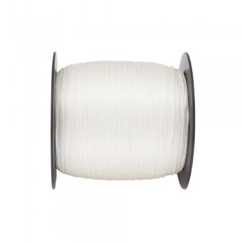 Κορδόνι αλυσιδάκι ρεγιόν λευκό 0,5mm