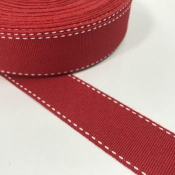 Κορδέλα γκρο κόκκινη 25mm