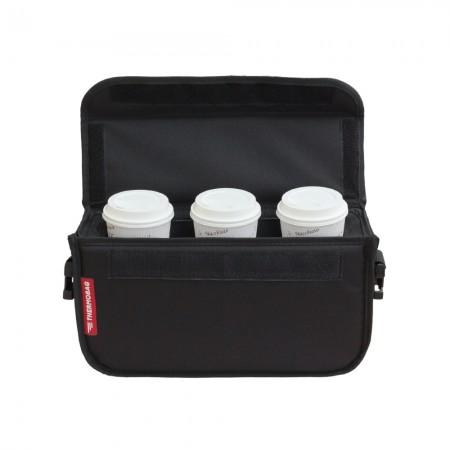 Ισοθερμική τσάντα Delivery  Καφέ Θερμόσακος για μεταφορά έως 3 καφέ ή 9 λίτρα σε μαύρο χρώμα με ιμάντα +1,89€