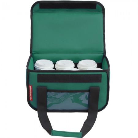 Ισοθερμική τσάντα delivery καφέ Θερμόσακος μεταφοράς εως 6 καφέ ή 15 λίτρα σε πράσινο χρώμα