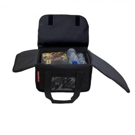 Ισοθερμική Τσάντα Delivery για Φαγητό Θερμόσακος Μεταφοράς Φαγητού 23 λίτρα σε μαύρο χρώμα