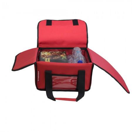 Ισοθερμική Τσάντα Delivery για Φαγητό Θερμόσακος Μεταφοράς Φαγητού 23 λίτρα σε κόκκινο χρώμα