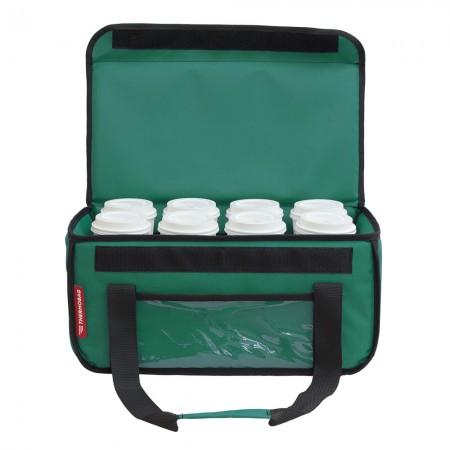 Ισοθερμική τσάντα θερμόσακος Delivery για μεταφορά καφέ εως 8 καφέ ή 24 λίτρα σε πράσινο χρώμα