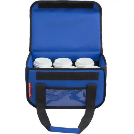 Ισοθερμική τσάντα θερμόσακος delivery για μεταφορά εως 6 καφέ ή 15 λίτρα σε μπλε ρουά χρώμα