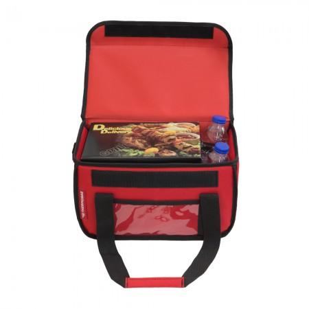 Ισοθερμική Τσάντα Delivery για Φαγητό Θερμόσακος Μεταφοράς Φαγητού 15 λίτρα σε κόκκινο χρώμα