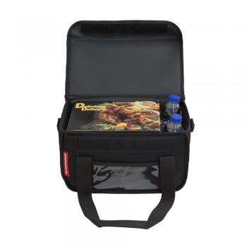 Ισοθερμική Τσάντα Delivery για Φαγητό Θερμόσακος Μεταφοράς Φαγητού 15 λίτρα σε μαύρο χρώμα