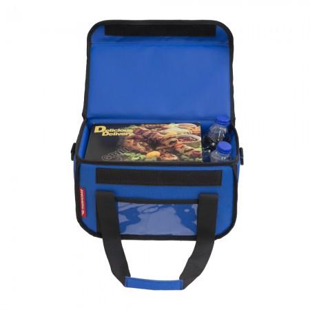 Ισοθερμική Τσάντα Delivery για Φαγητό Θερμόσακος Μεταφοράς Φαγητού 15 λίτρα σε μπλε ρουά χρώμα