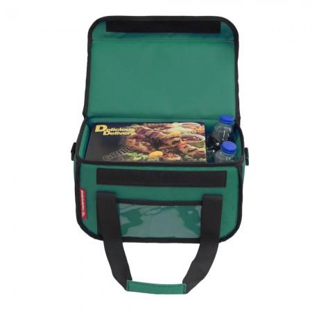 Ισοθερμική Τσάντα Delivery για Φαγητό Θερμόσακος Μεταφοράς Φαγητού 15 λίτρα σε πράσινο χρώμα