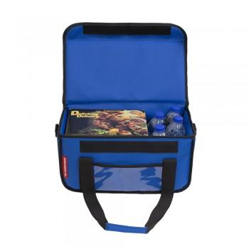 Ισοθερμική Τσάντα Delivery για Φαγητό Θερμόσακος Μεταφοράς Φαγητού 20 λίτρα σε μπλε ρουά χρώμα