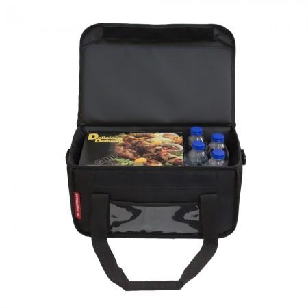 Ισοθερμική Τσάντα Delivery για Φαγητό Θερμόσακος Μεταφοράς Φαγητού 20 λίτρα σε μαύρο χρώμα