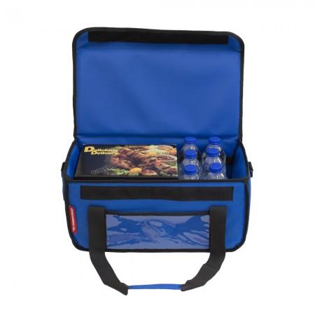 Ισοθερμική Τσάντα Delivery για Φαγητό Θερμόσακος Μεταφοράς Φαγητού 24 λίτρα σε μπλε ρουά χρώμα
