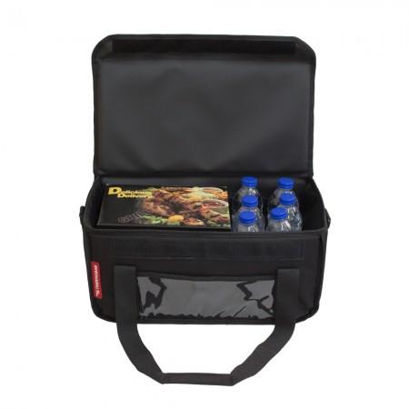 Ισοθερμική Τσάντα Delivery για Φαγητό Θερμόσακος Μεταφοράς Φαγητού 24 λίτρα σε μαύρο χρώμα