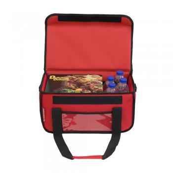 Ισοθερμική Τσάντα Delivery για Φαγητό Θερμόσακος Μεταφοράς Φαγητού 20 λίτρα σε κόκκινο χρώμα