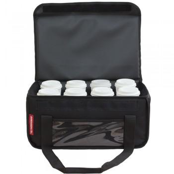 Ισοθερμική τσάντα delivery Καφέ Θερμόσακος μεταφοράς  εως 8 + 3 καφέ ή 30 λίτρα σε μαύρο χρώμα