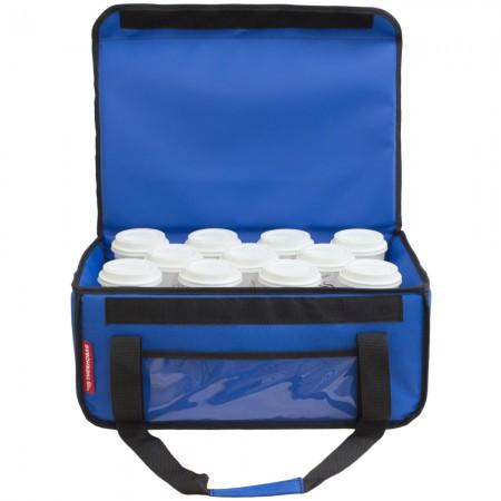 Ισοθερμική τσάντα μεταφοράς  καφέ delivery  θερμόσακος εως 11 + 2 καφέ ή 40 λίτρα σε μπλε ρουά χρώμα