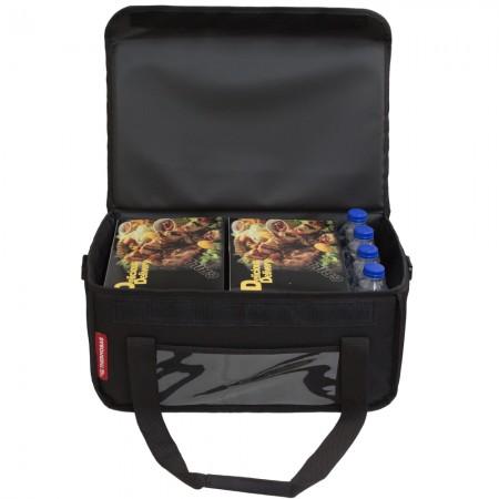Ισοθερμική Τσάντα Delivery για Φαγητό Θερμόσακος Μεταφοράς Φαγητού 30 λίτρα σε μαύρο  χρώμα
