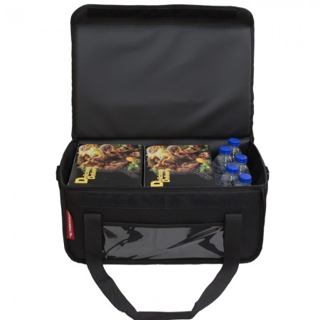 Ισοθερμική Τσάντα Delivery για Φαγητό Θερμόσακος Μεταφοράς Φαγητού 40 λίτρα σε μαύρο χρώμα