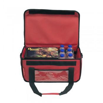 Ισοθερμική Τσάντα Delivery για Φαγητό Θερμόσακος Μεταφοράς Φαγητού 24 λίτρα σε κόκκινο χρώμα
