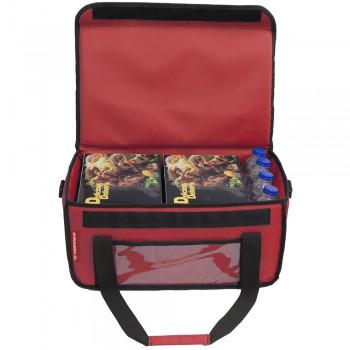 Ισοθερμική Τσάντα Delivery για φαγητό Θερμόσακος μεταφοράς Φαγητού 30 λίτρα σε κόκκινο χρώμα